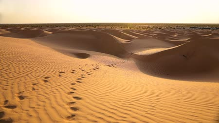 sun beam : morning in Sahara desert. shooting from panoramic camera