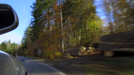 deslizamento : Car driving on a street in autumn, Bavaria, Germany, Europe