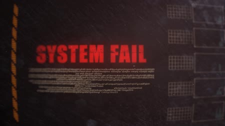 ck : System Fail Signal Alert on an Old Monitor Stock Footage