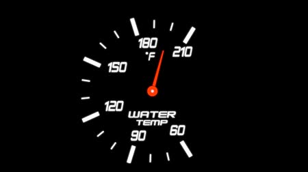temp : Illustration of a Water Temp Meter on a Black Background