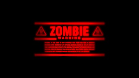 special unit : Zombie Alert Going on and Off Stock Footage
