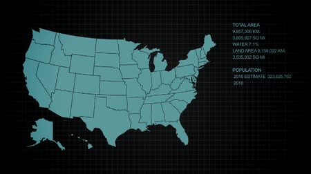 amerika : Statistics of the USA in a Digital Presentation with Map and Text