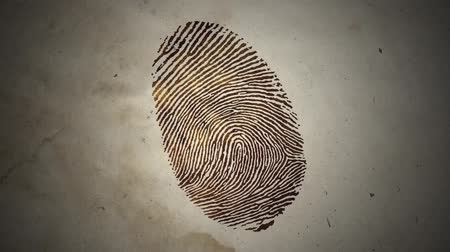 dedo humano : Various Fingerprints Running on an Old Paper Stock Footage