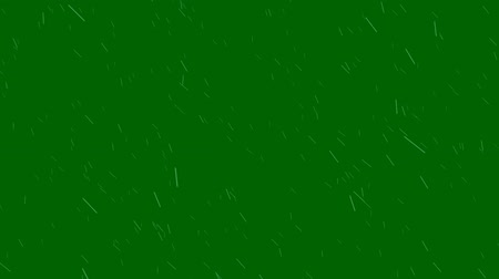 chuva : Windy Rain on a Green Screen Background Animation Vídeos