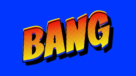 anima : Comic Book BANG Speech Bubble on a Green Screen Background Stock Footage