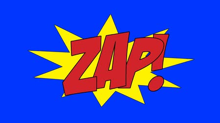 anima : Comic Book ZAP Speech Bubble on a Green Screen Background Stock Footage