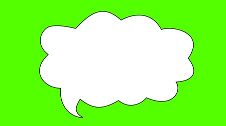 gifle : Set d'un Comic Book Speech Bubbles sur un Screenset vert d'un Comic Book Speech Bubbles sur un écran vert