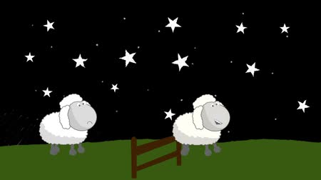 koyun : Counting Sheep that Jumping Above a Wooden Fence at Night