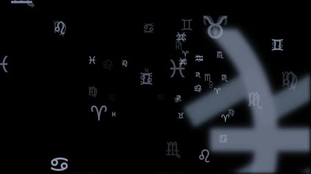 zodiak : All the Zodiac Symbols Running on a Black Background