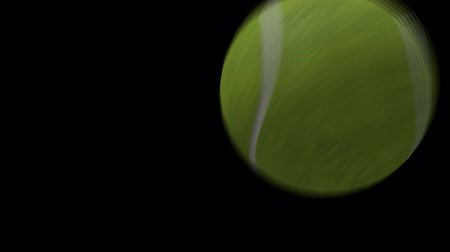 tennis game : Tennis Ball Video Transition for a TV Sport Show in Alpha Channel