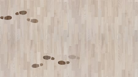 doğru : Footsteps Appearing and Disappearing on a Parquet