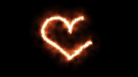 buring : A Heart Symbol Lighting up and Burning in Flames