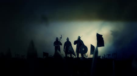 asker : Victorious Medieval Nights Around Their Motivated Army Getting Wild Applause Under a Storm
