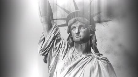 totalitarianism : Statue of Liberty Crumbling to Small Dust Particles