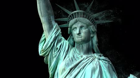 totalitarianism : Statue of Liberty Crumbling in Alpha Channel