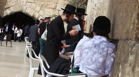 wailing : An Orthodox Jew Praying with Passion at the Western Wall in Jerusalem Israel