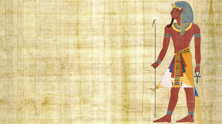 papyrus : An Egyptian Pharaoh on a Papyrus Background