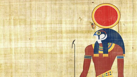 papyrus : Ra the Egyptian God of Sun on a Papyrus Background