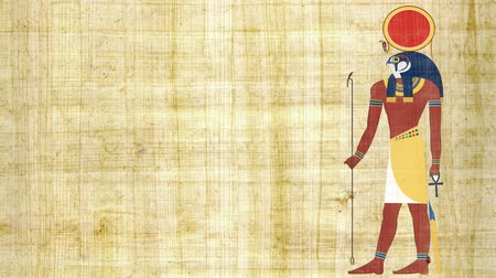 papyrus : Ra the Egyptian God of the Sun on a Papyrus Background