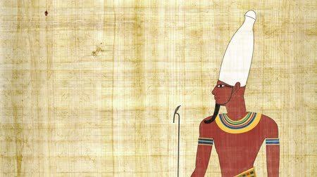 papyrus : Upper Egypt Pharaoh in a Papyrus Background