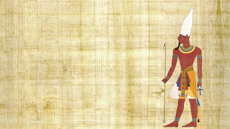 papyrus : Upper Egypt Pharaoh on a Papyrus Background