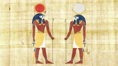 mitologia : Egyptian Gods Ra and Khonsu