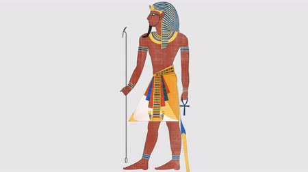 mitologia : Egyptian Pharaoh in Alpha Channel Vídeos
