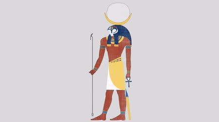 papyrus : Khonsu God of the Moon in Alpha Channel