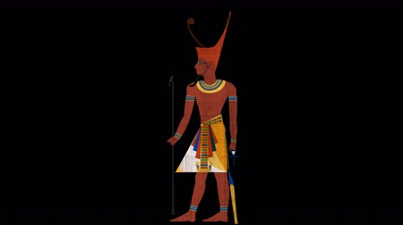 papyrus : Lower Egypt Pharaoh in Alpha Channel