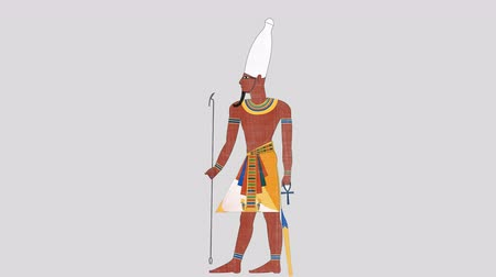 papyrus : Upper Egypt Pharaoh in Alpha Channel
