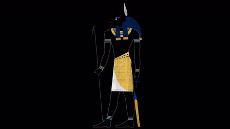 papyrus : Egyptian God of Death Anubis in Alpha Channel