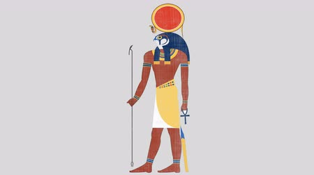 papyrus : Egyptian Sun God Ra in Alpha Channel