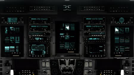 navigovat : Futuristic Control Room Dashboard  on a Spaceship