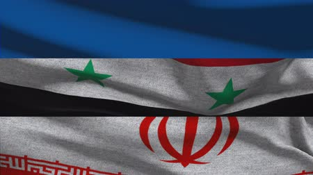 isis : Russia Iran Syria Waving Flags