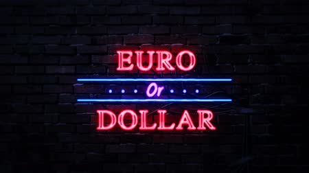 metaphors : Euro Or Dollar Neon Sign