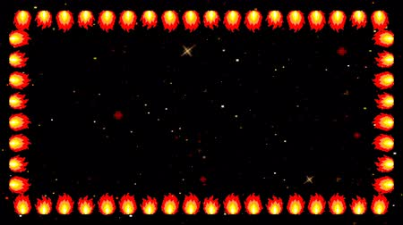 pontão : Retro 8 Bit Game Arcade Background With Frame Of Fire
