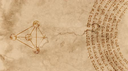 felsefe : The 10 Sephirot of Kabbalah with Hebrew Holy Words Stok Video