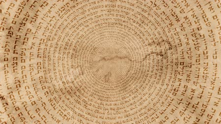 numerology : Hebrew Jewish Holy Words on an Old paper Background