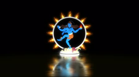 シバ神 : Lord Shiva Dancing on Apasmara in a Ring of Fire