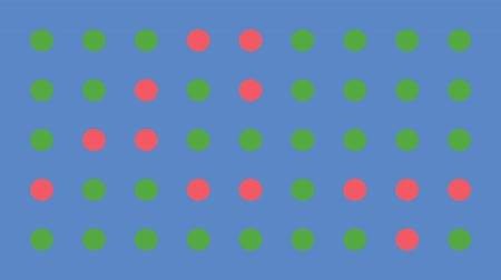 sophisticated : Dots Changing Colors Randomly Retro Vector Background