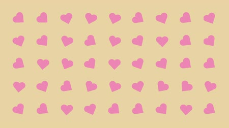 sofisticado : Hearts Turning Randomly Cartoon Vector Background Vídeos