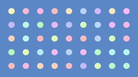 sophisticated : Colorful Dots Blinking Randomly Retro Vector Background