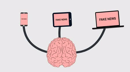 прикован : Brain Receiving A Fake News From Media