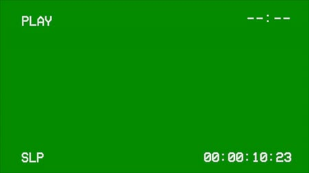 videotape : VCR Recording Screen on a Green Screen