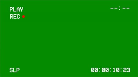 vcr : VCR Screen Interface on a Green Screen