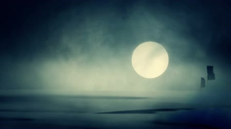 grim : A Rising Moon at a Dust Storm