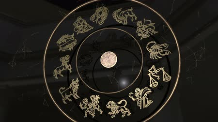bak : All Zodiac Signs Inside a Golden Wheel
