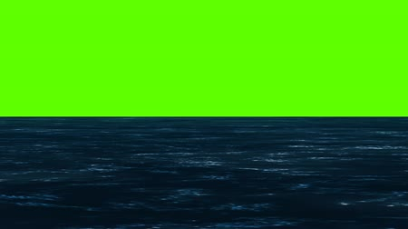 dark island : Small Waves on a Green Screen Stock Footage