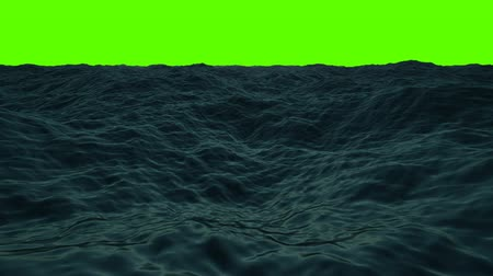 pirates : Middle of the Sea with Waves and Wind on a Green Screen