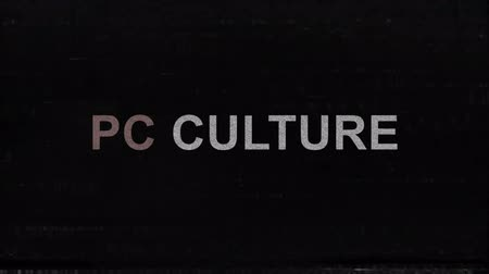 sertés : PC Culture Title With Television Glitches